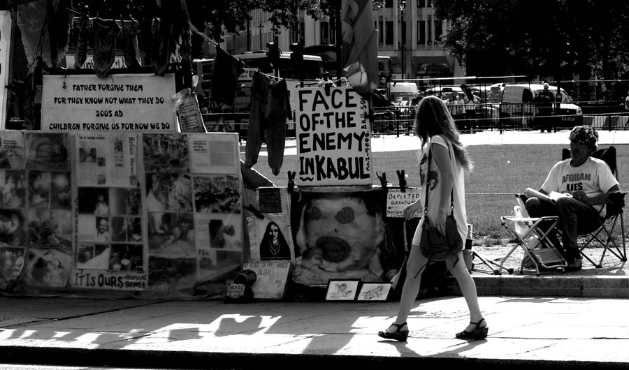 Protester, London