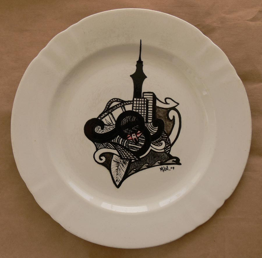 Drawings on antique plates