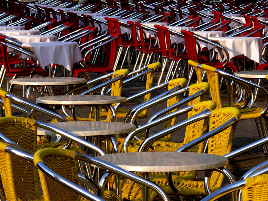 Chairs at Piazza San Marco