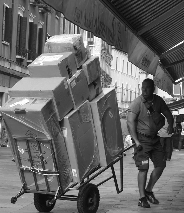 Man and Cart, Venice